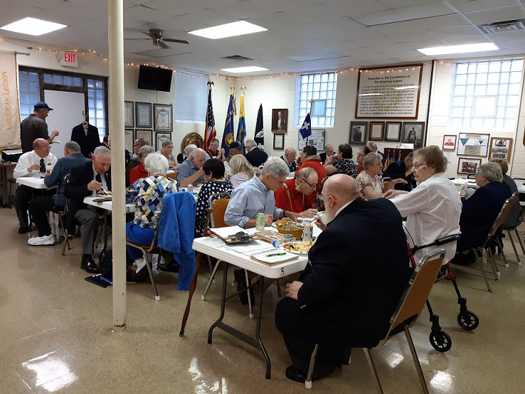 Member's attending Post 501's potluck dinner on 6-12-2019.