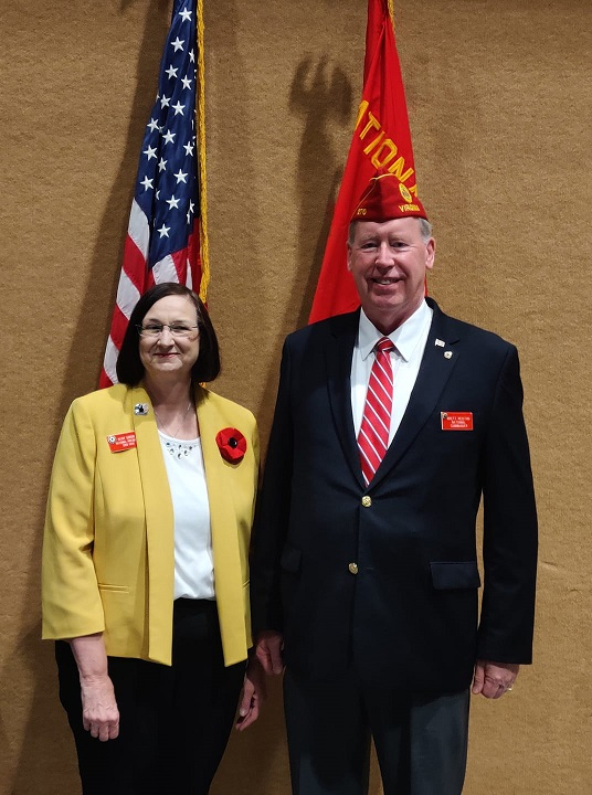We were honored to have both The American Legion Nat'l Cdr. Brett Reistad and The American Legion Aux. Nat'l President Kathy Dungan at The Department of Wisconsin Convention in Middleton, WI.