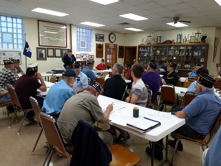 Post 501's member meeting on 8/14/2019, it was almost a full house.  Plan on future meetings to get there early to have a seat at the table.