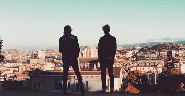 Got a chance to hang with these two kickass dudes in San Fran last week... more soon... @chuckprophet  @aaronleetasjan  #sitesandsounds #episodeiii @southwestair @luckreunion @theluckjournal