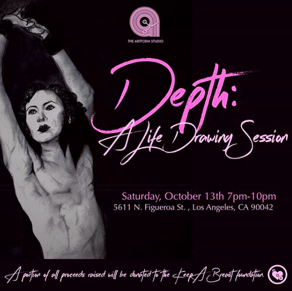 - The Artform Studio is happy to celebrate our first anniversary for DEPTH: A Life Drawing Session, hosted by Jazmin Hicks, which happens every second Saturday of the month.