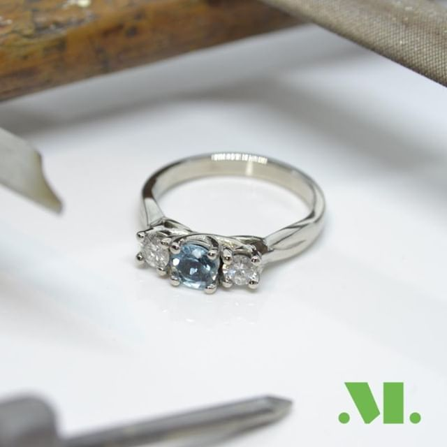 Engagement rings don't have to just have diamonds. Pick your favourite person's favourite colour and make it just for them⠀ ⠀ #engagement #ring #engagementring #handmade #custom #bespoke #handmadejewellery #customjewellery #bespokejewellery #aquamarine #diamond #aquamarinering #diamondring #blue #swindon #wiltshire #cirencester #cheltenham #swindonjeweller #jeweller #style #fashion #madeforyou #love #shesaidyes  #platinum #goldsmith #swindongoldsmith #wiltshirejeweller #wiltshiregoldsmith