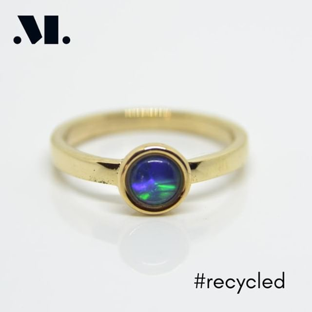Opal from an old pendant, gold from three different items. Take something you don't wear and make it into something you can love every day!⠀ ⠀ #recycled #recycledgold #ethicalgold #recycledjewellery #ethicaljewellery #newfromold #opal #blackopal #opalring #blackopalring #opaljewellery #style #fashion #love #shopping #giftidea #simplejewellery #geometricjewellery #swindon #wiltshire #handmade #bespoke #custom #handmadering #bespokering #customring #handmadejewellery #bespokejewellery #customjewellery