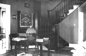 "the ""renovated"" living room, circa 1912"