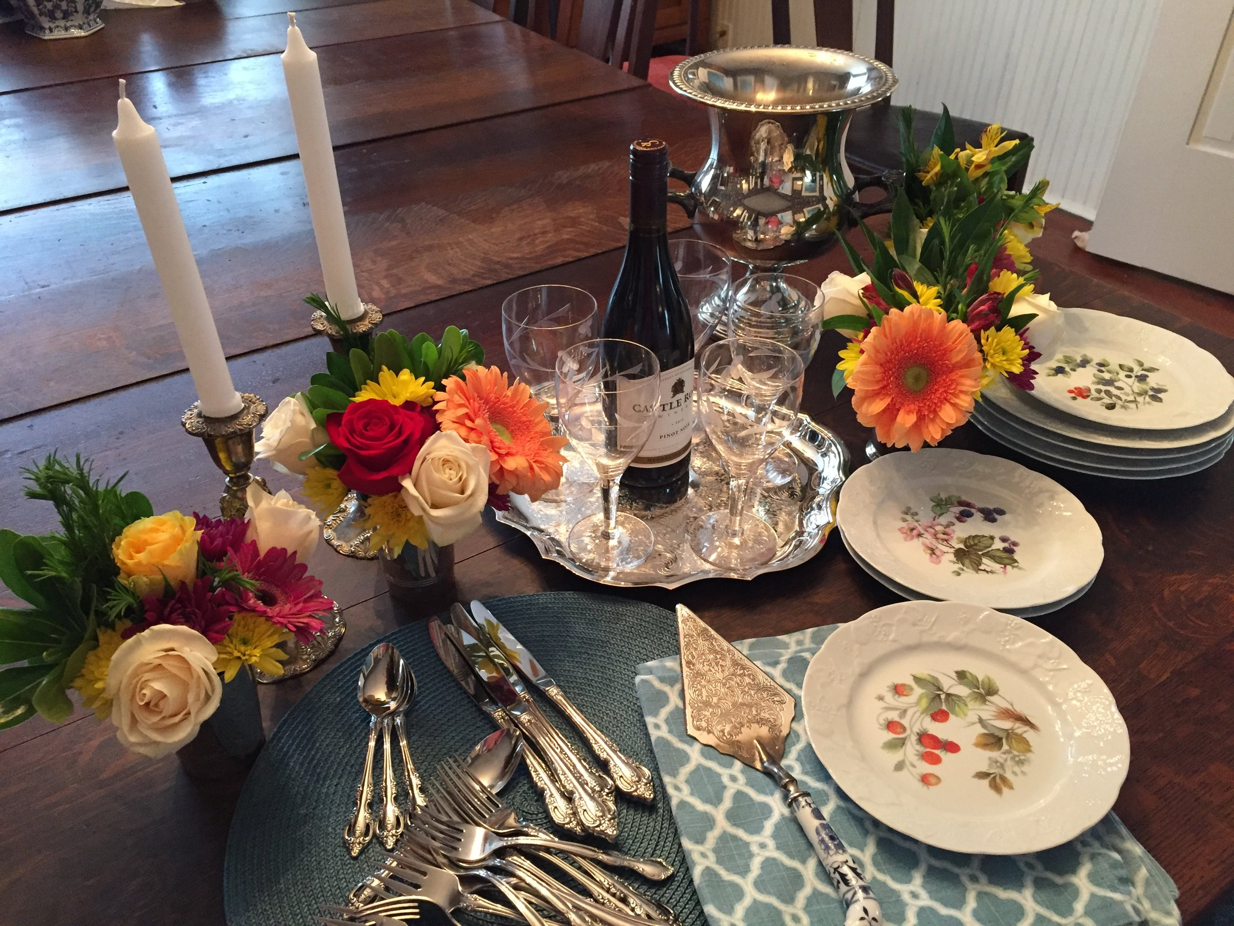 Setting the table for luncheon.JPG