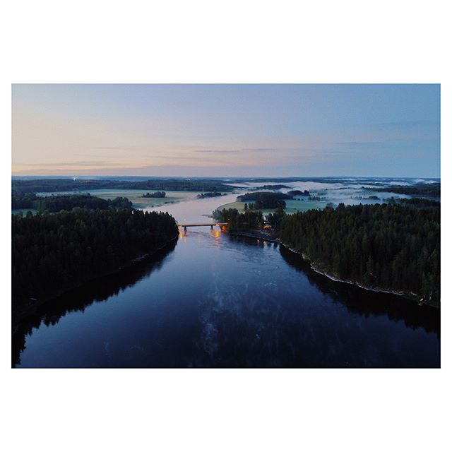 Midsummer night scenery.  #drone