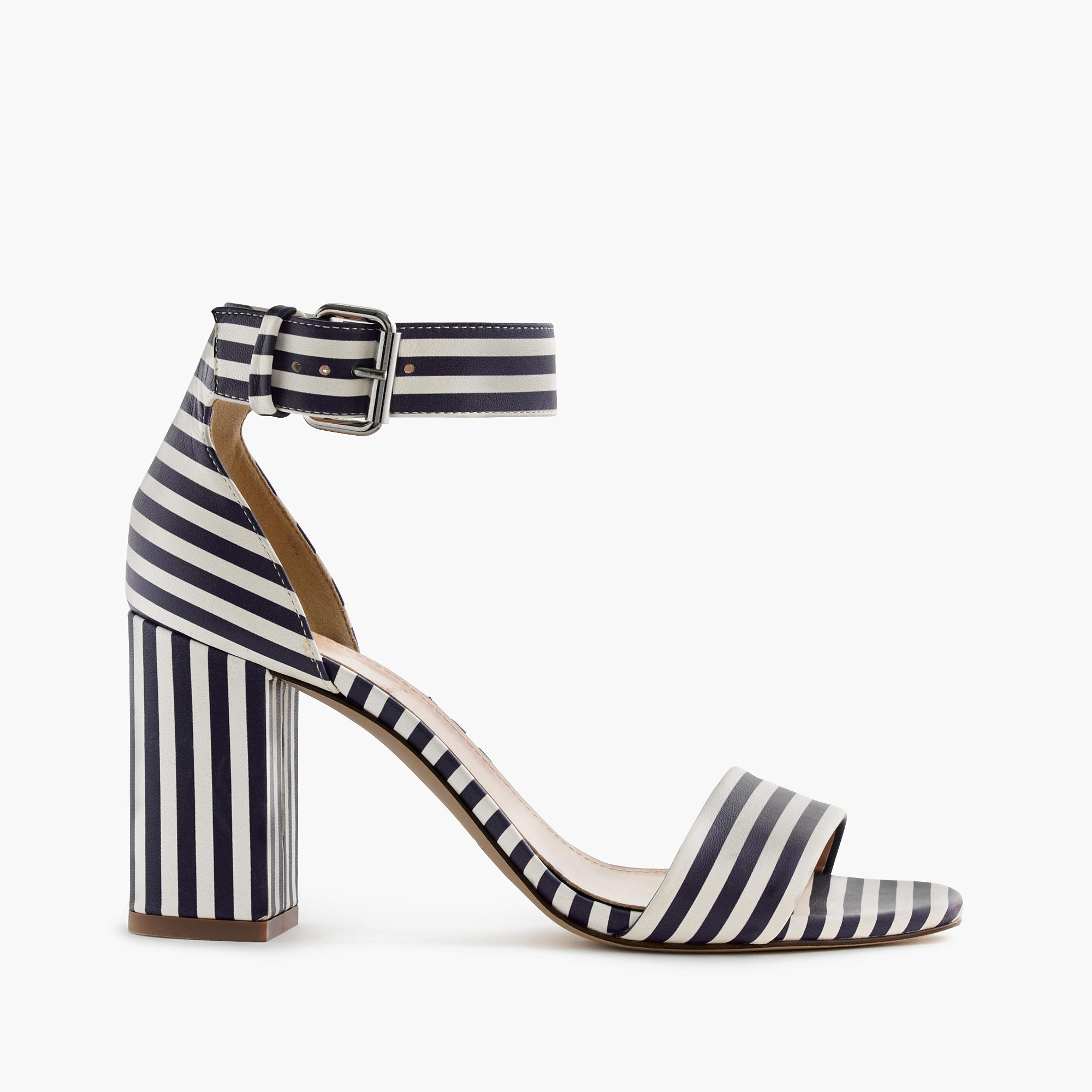 Striped Strappy High-Heel Sandals  available at J.Crew- $268 + 20% off