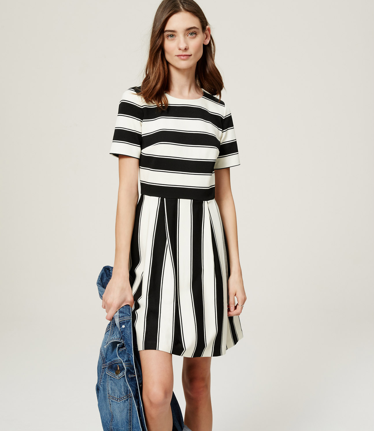 Striped Flare Dress  available at LOFT- $79.50