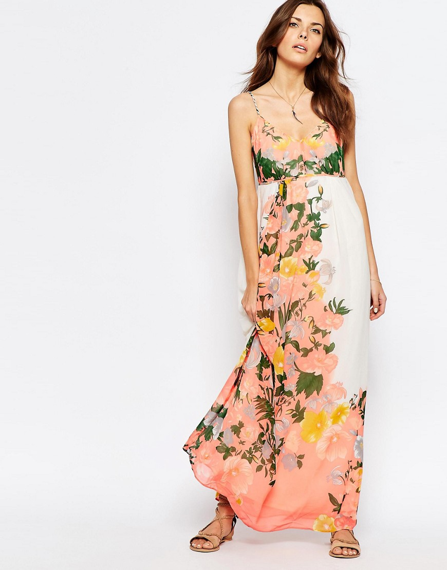 Vila Floral Bloom Maxi Dress  available at ASOS- $68