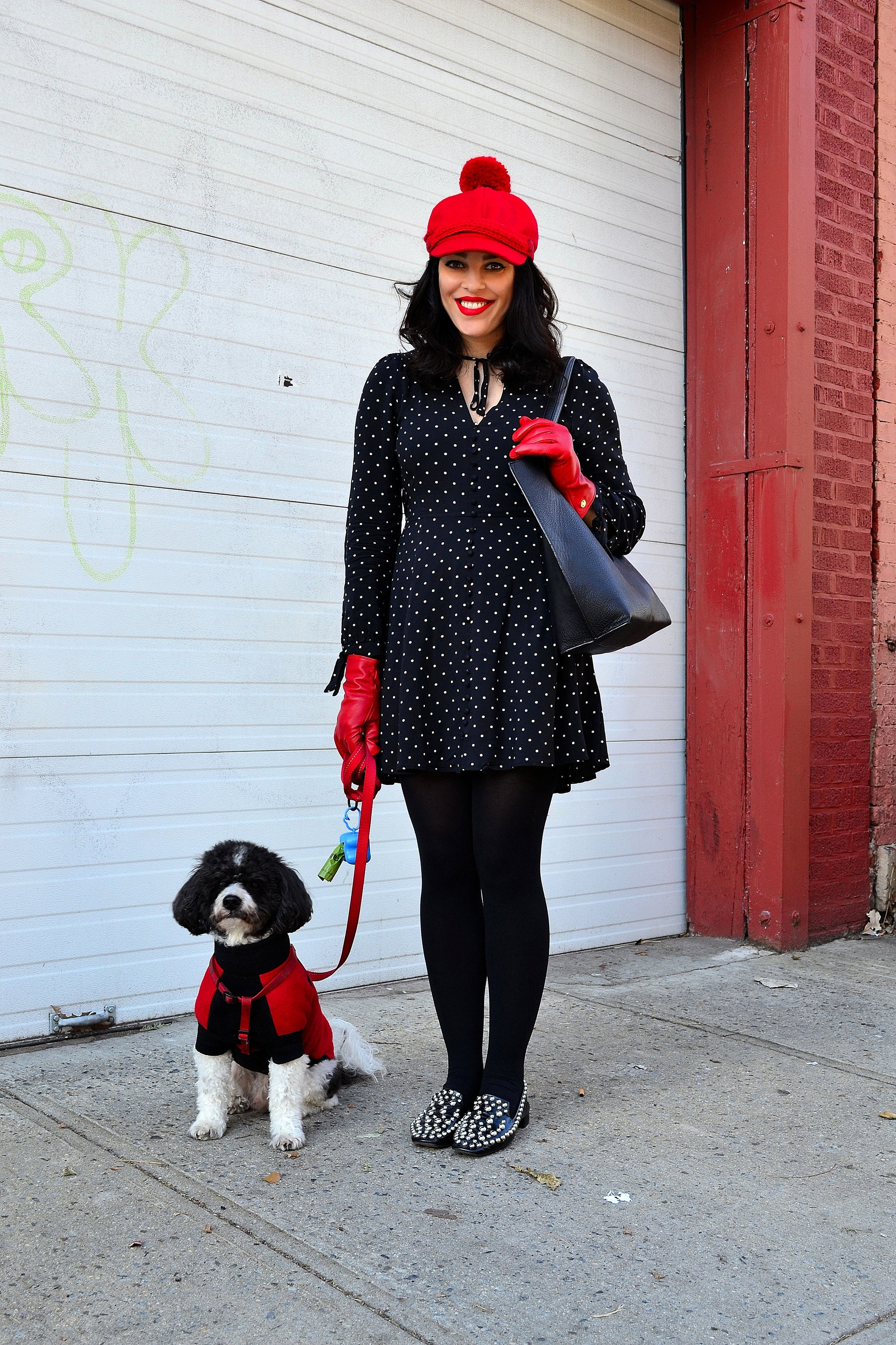 dress express tights asos loafers zara bag brooklyn industries with dog 1.JPG