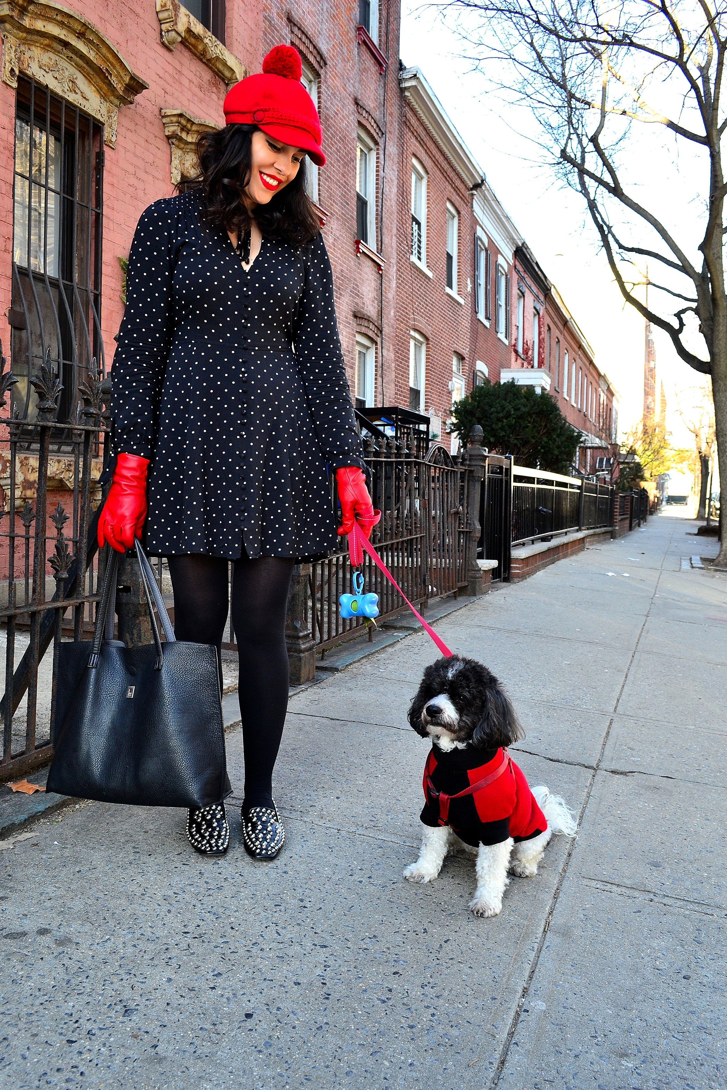 dress express tights asos loafers zara bag brooklyn industries with dog 3.JPG
