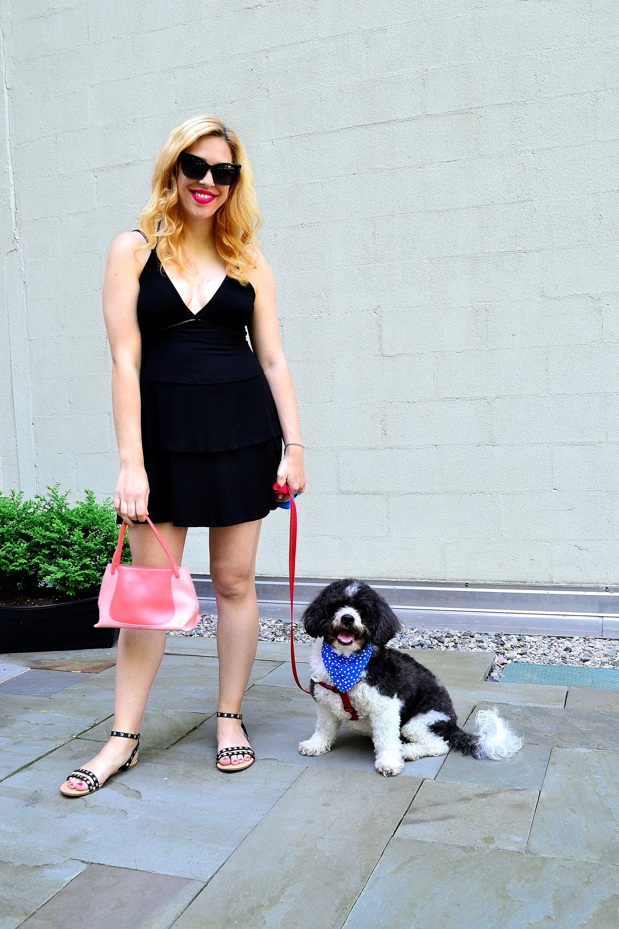 sundress- ASOS ,  sunglasses- ASOS ,  sandals- ASOS , handbag- Furla