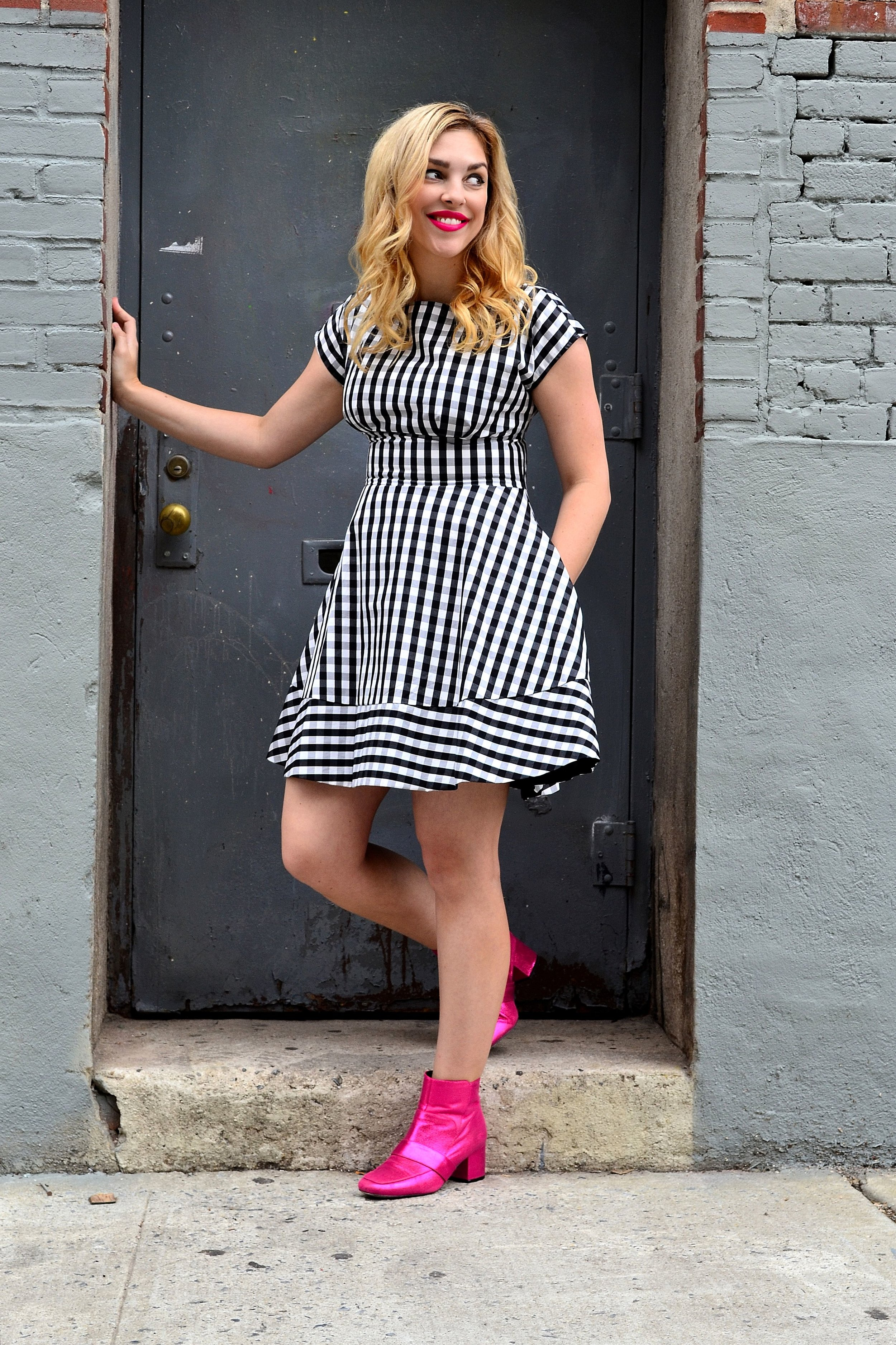 kate spade dress asos pink booties.JPG