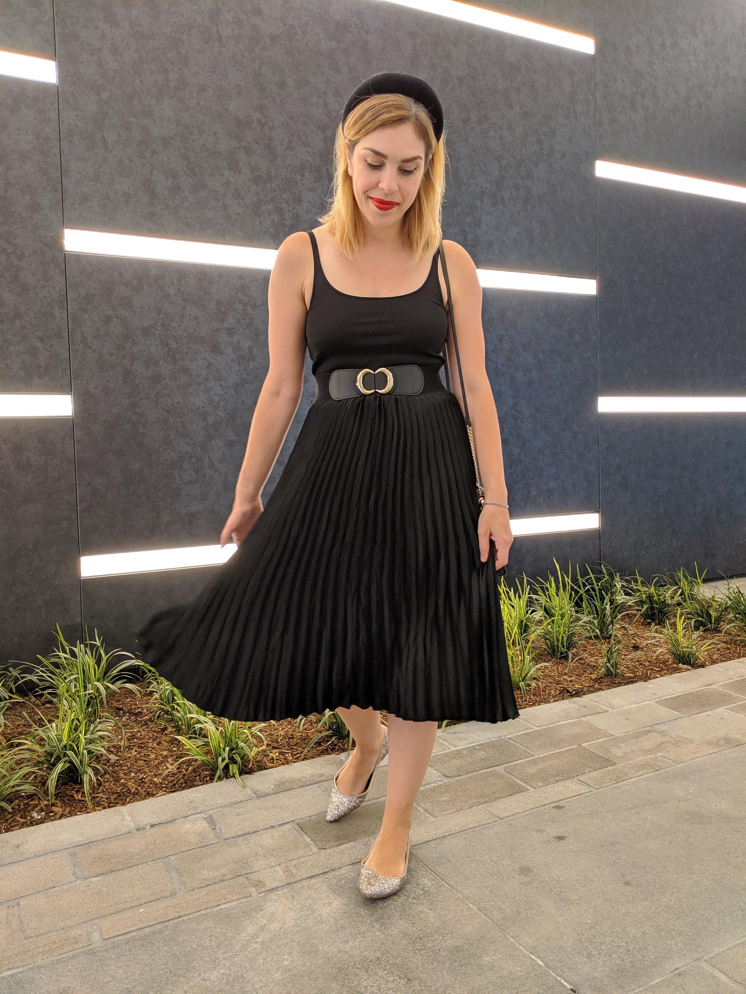 HM skirt ASOS flats Zara headband 1.jpg