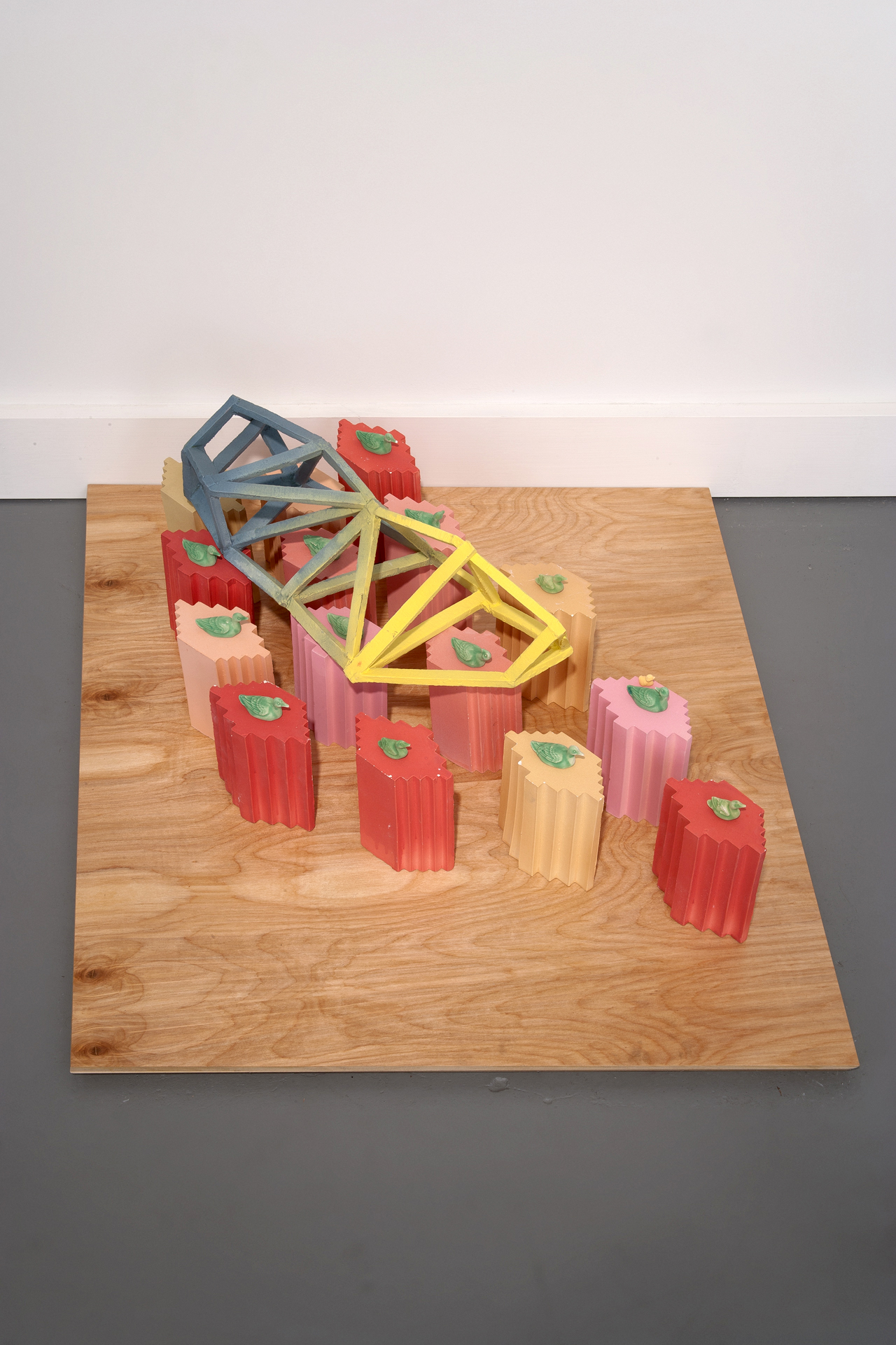 Bridge over Troubled Water   Collaboration with Hank Hafkemeyer  Ceramic, plywood 2012 Photo Credit: E.G. Schempf