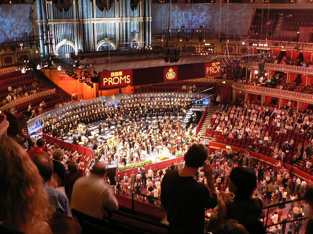 Arena of the Royal Albert Hall from above. Image Credit:  yisris  via  Flickr   cc