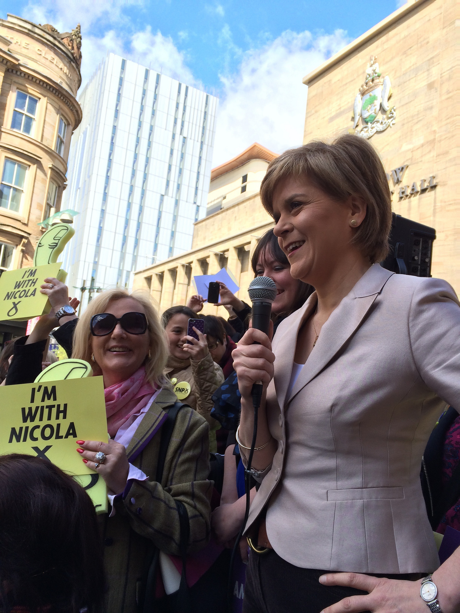 Having served as Deputy First Minister under Alex Salmond since 2007, Nicola Sturgeon succeeded him as First Minister of Scotland and leader of the SNP following the rejection of independence by Scottish voters, but her party has enjoyed a surge of support that allowed them to win all but three of Scotland's 59 seats in the UK House of Commons. Image Credit:   Christine McIntosh  via  Flickr   cc