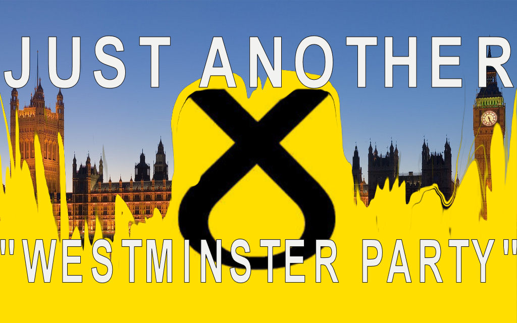 "Underneath the facade of being anti-Westminster, the SNP is just another ""Westminster Party ""   (Credit:    Jim Trodel    via    Flickr     cc   ; Modified by Wesley Hutchins) ."
