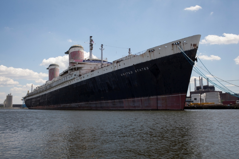 SS United States moored along the Delaware River in Philadelphia - waiting for her Future. (Credit:    The Hartford Guy  via    Flickr     cc   )
