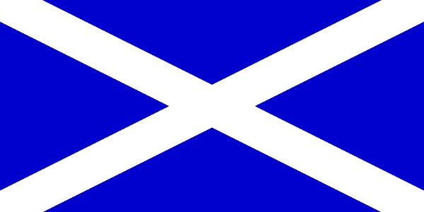 The flag of Scotland featuring St. Andrew's Saltire