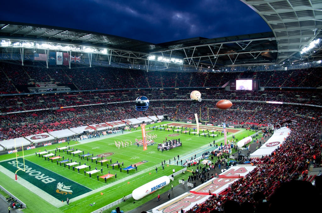 San Francisco 49ers vs. the Denver Broncos in London, 2010. Image Credit:  Thomas  via  Flickr   cc