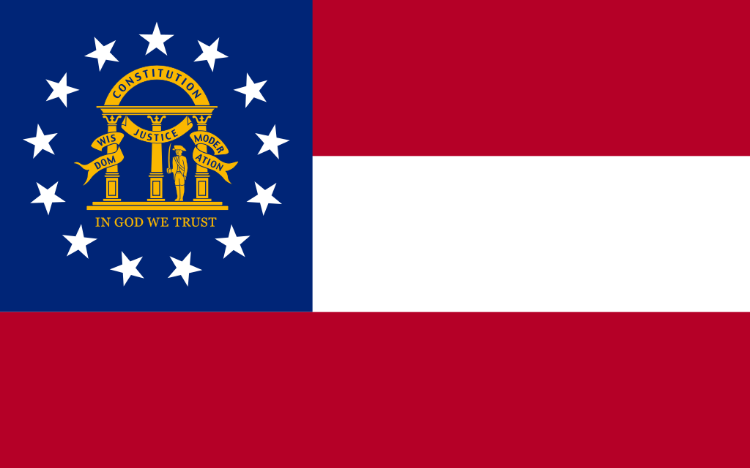 State Flag of Georgia. Image Credit:  Xrmap (Public Domain)
