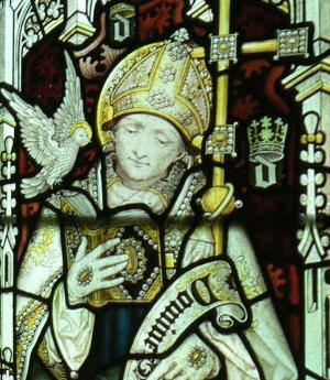 """Stained-glass window featuring St. David at the Jesus College Chapel, Oxford. Image Credit:  Self  via  Wikimedia Commons   cc       Normal   0           false   false   false     EN-US   X-NONE   X-NONE                                        MicrosoftInternetExplorer4                                                                                                                                                                                                                                                                                                                                            /* Style Definitions */  table.MsoNormalTable {mso-style-name:""""Table Normal""""; mso-tstyle-rowband-size:0; mso-tstyle-colband-size:0; mso-style-noshow:yes; mso-style-priority:99; mso-style-qformat:yes; mso-style-parent:""""""""; mso-padding-alt:0in 5.4pt 0in 5.4pt; mso-para-margin-top:0in; mso-para-margin-right:0in; mso-para-margin-bottom:10.0pt; mso-para-margin-left:0in; line-height:115%; mso-pagination:widow-orphan; font-size:11.0pt; font-family:""""Calibri"""",""""sans-serif""""; mso-ascii-font-family:Calibri; mso-ascii-theme-font:minor-latin; mso-fareast-font-family:""""Times New Roman""""; mso-fareast-theme-font:minor-fareast; mso-hansi-font-family:Calibri; mso-hansi-theme-font:minor-latin;}"""
