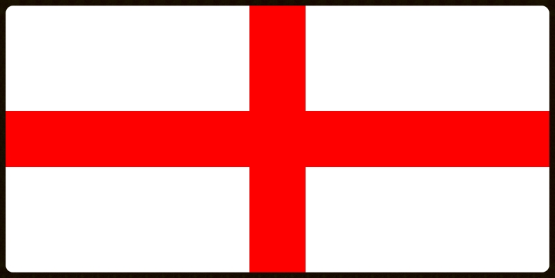 Cross of St George - the flag of England.