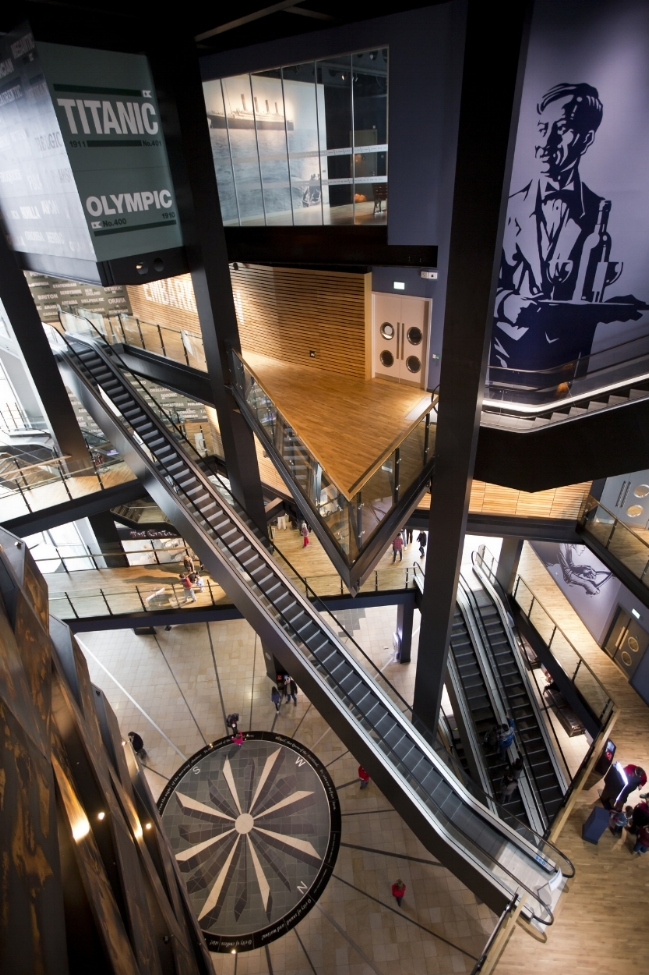 The expansive Main Atrium of Titanic Belfast. Image Credit:  Titanic Belfast  via  Flickr   CC