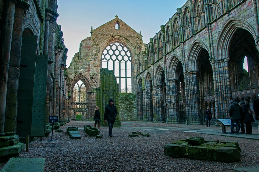 ruins of the Augustinian Holyrood Abbey. Image Credit:  Bvi4092  via  Flickr   cc