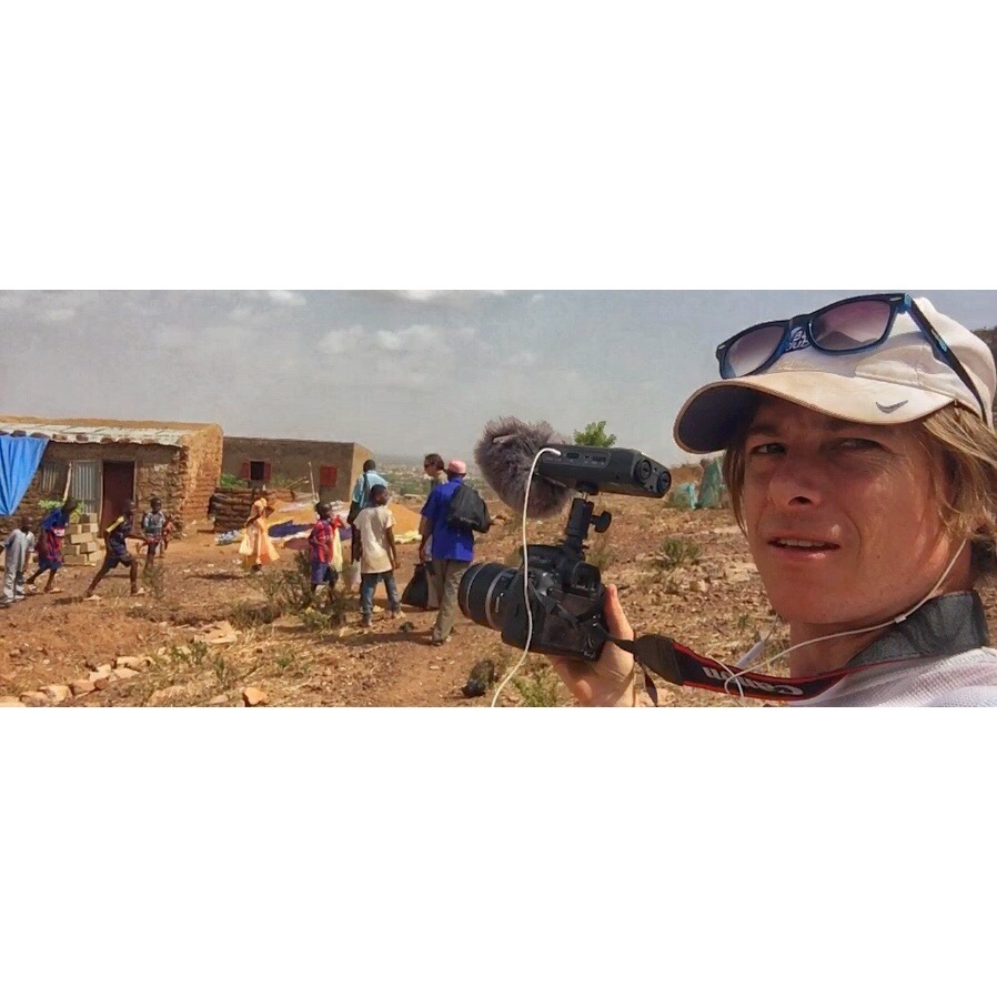 Michael Axtell, Founder/Creative Producer of Dreaming Monk Productions, on location in Mali, West Africa.