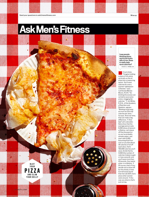 jarren vink men's fitness pizza slice food