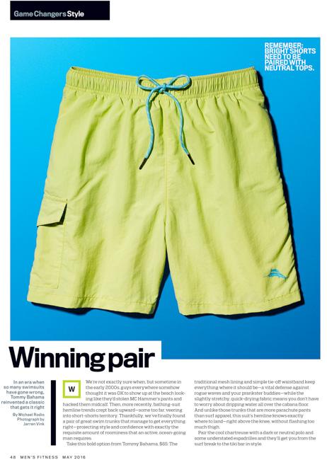 jarren vink men's fitness swim trunks clothing still life