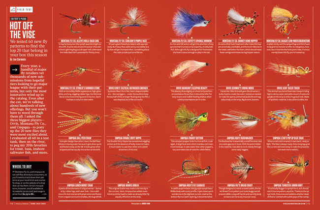 jarren vink field and stream fly fishing flies