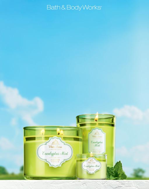 jarren vink bath & body works bbw candle eucalyptus mint candle