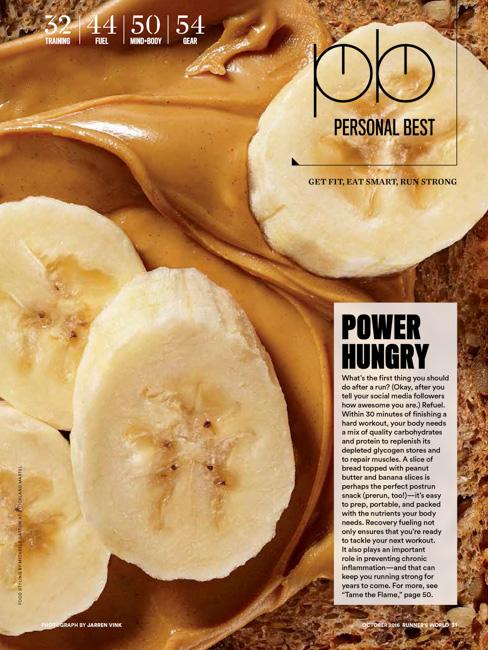 jarren vink runner's world peanut butter and banana sandwich