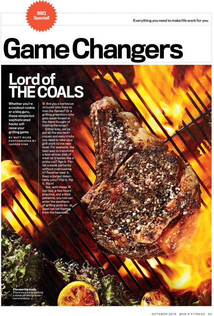 jarren vink men's fitness grill grilling steak ribeye charcoal flame