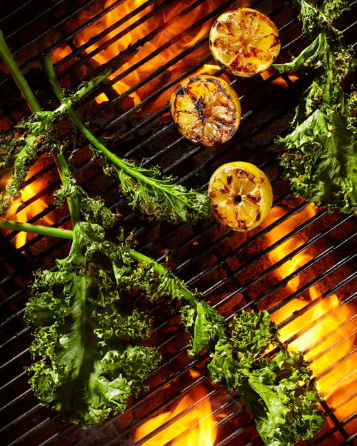 jarren vink men's fitness grill grilling kale charcoal flame
