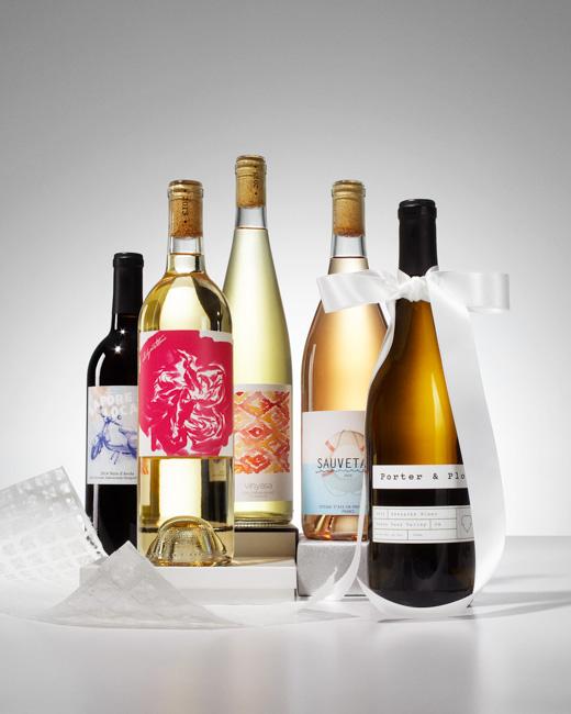jarren vink brides magazine holiday presents wine bottle