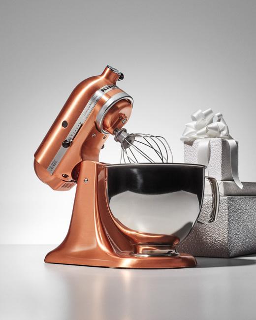 jarren vink brides magazine holiday presents kitchen aid copper mixer