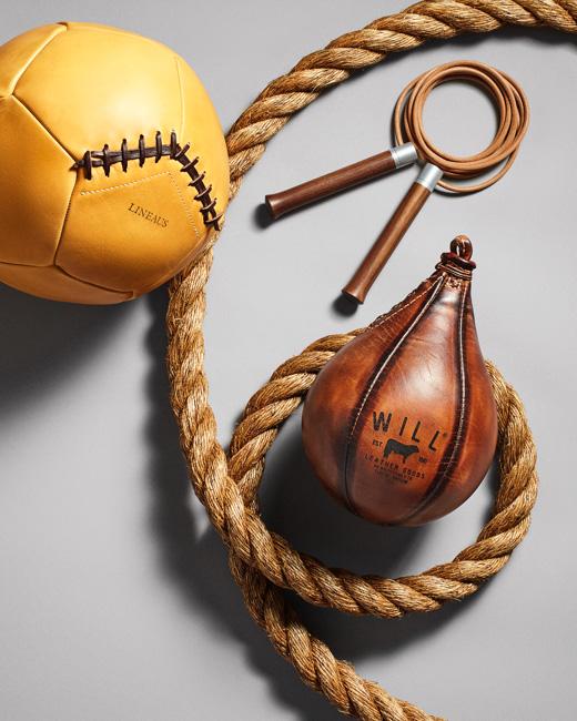 jarren vink men's fitness still life gym rope medicine ball speed bag jump rope