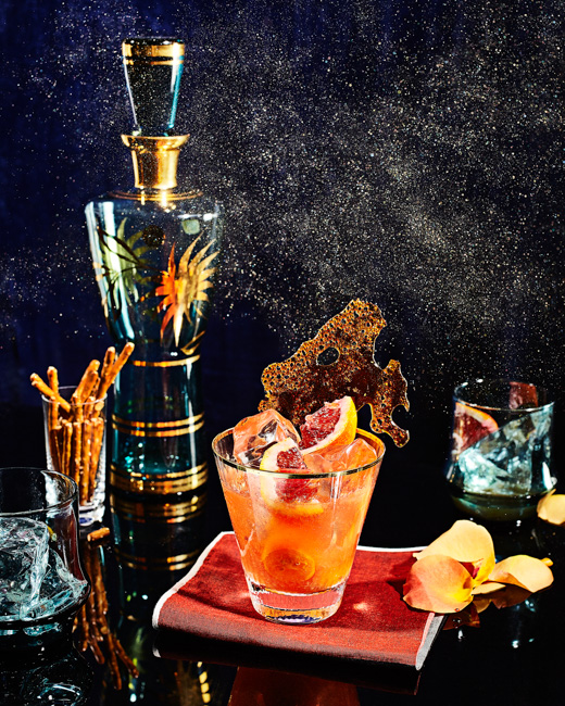 jarren vink victoria granof still life cocktail gold dust