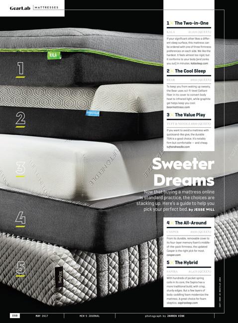 jarren vink men's journal magazine still life delivery mattress casper sapira kala tuft & needle