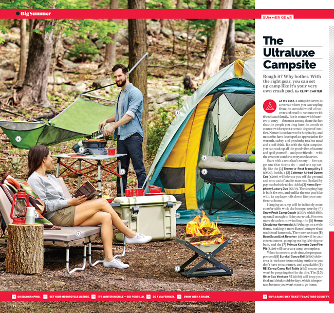 jarren vink men's journal camping glamping gear