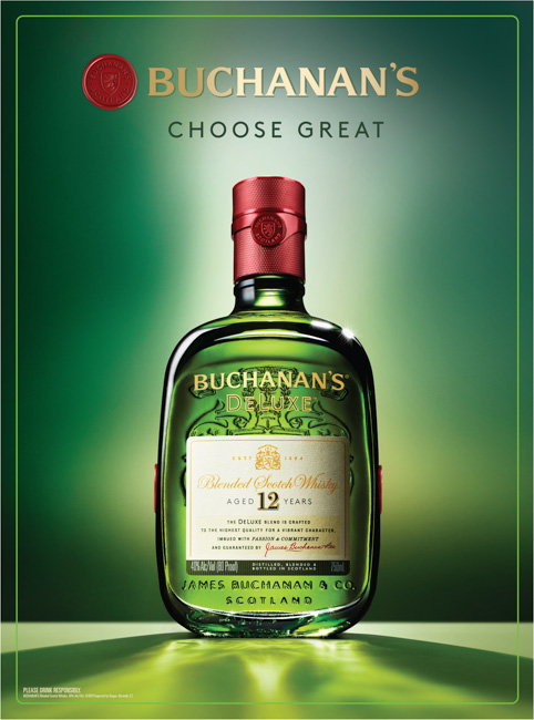 jarren vink studio buchanan's deluxe blended scotch whisky the selected agency james buchanan & co scotland liquor whiskey
