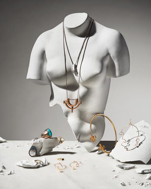 jarren vink lauren bahr jewelry ceramic bust