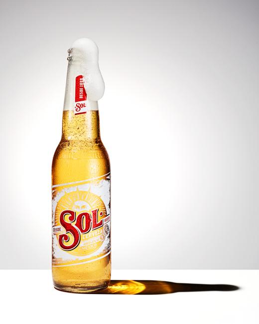jarren vink sol cerveza beer bottle liquid still life