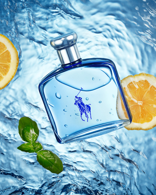 jarren vink ralph lauren eau de parfum ultra blue fragrance cologne still life water