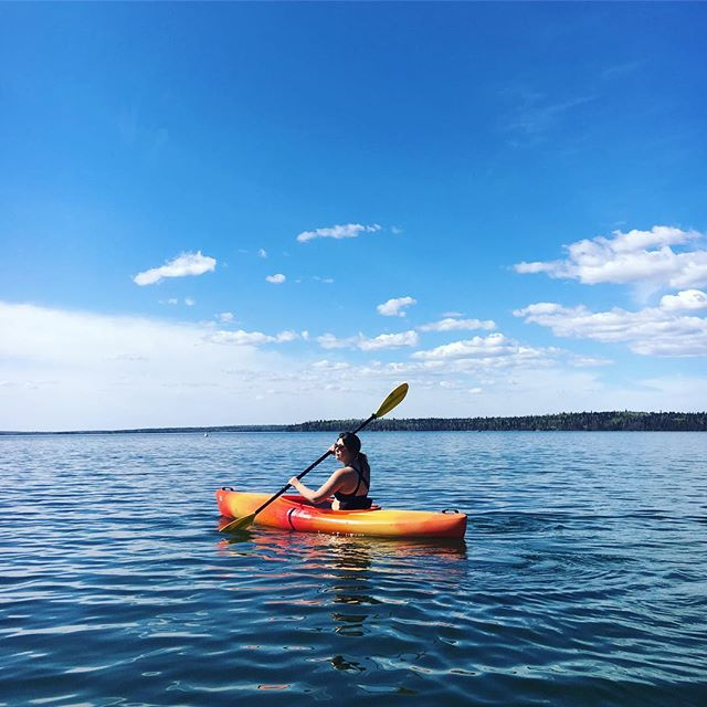 Rent a kayak while the water's still chilly! $19 for your first hour, $10 for additional hours. We also rent doubles!