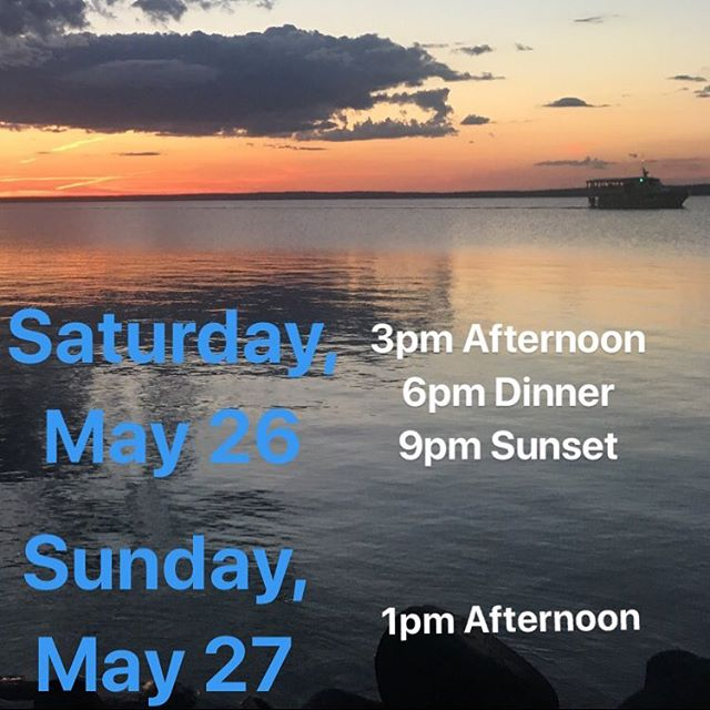 First cruises of the season this weekend! 🛳⚓️ Come to the kiosk or give us a call to purchase tickets. (Dinner cruise reservations must be made in advance)